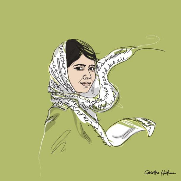malala-yousafsai-christina-heitmann-illustrator-internationella-kvinnodagen